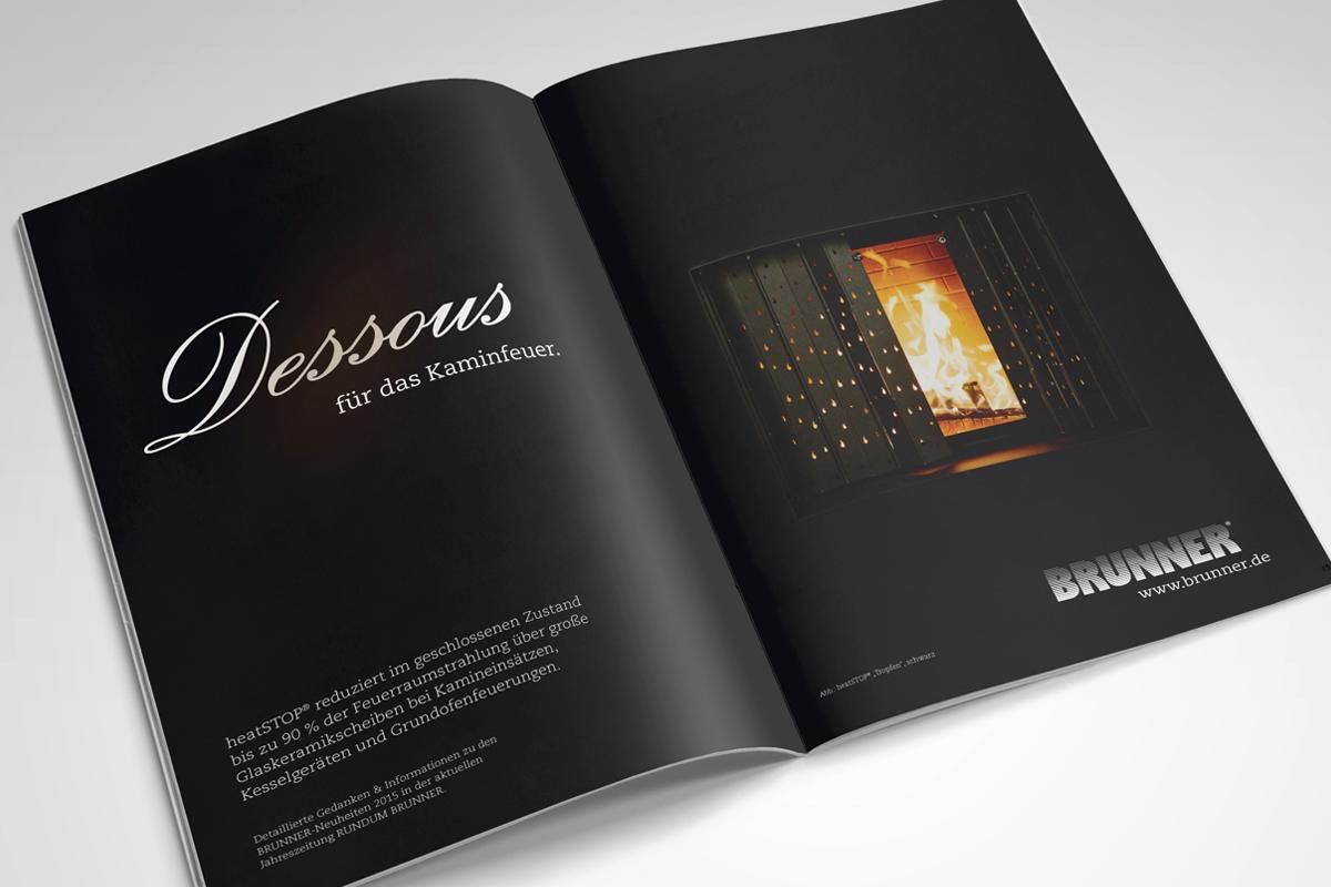 brunner anzeigenkampagne atwerb gmbh. Black Bedroom Furniture Sets. Home Design Ideas